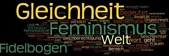 Gleichheit - Feminismus - Gleichberechtigung - NICHT-Feminist