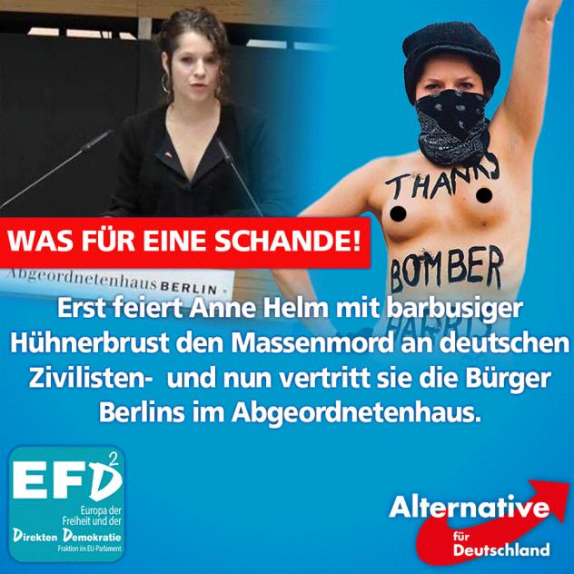 Beatrix von Storch - Antideutsche Anne Helm - Faktum