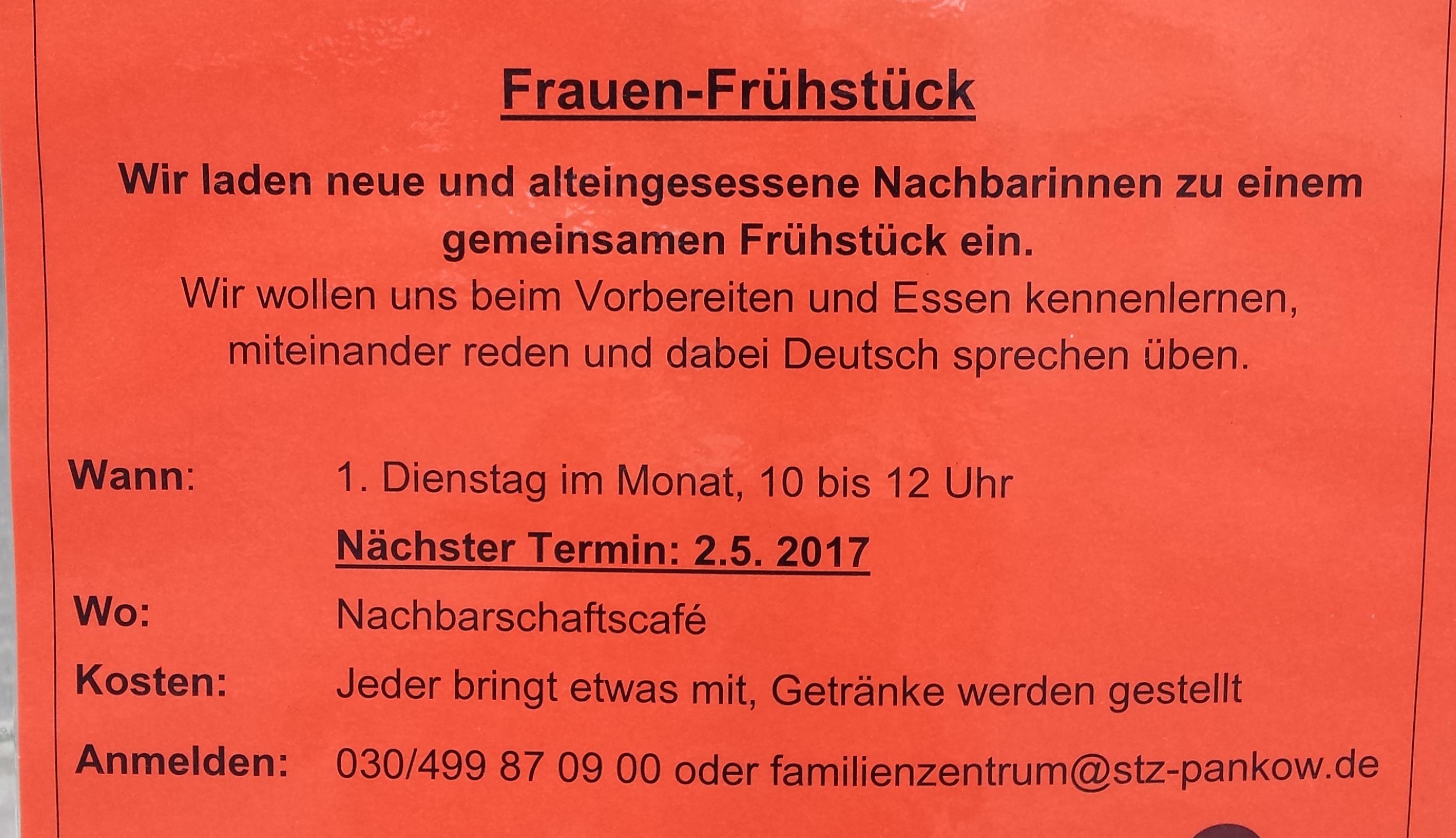 Frauenfrühstück - Berlin - Faktum Magazin