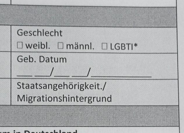 LGBTI-Fragebogen Berlin - Genderwahn