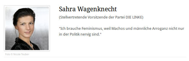 Sahra Wagenknecht braucht Feminismus - Faktum Magazin