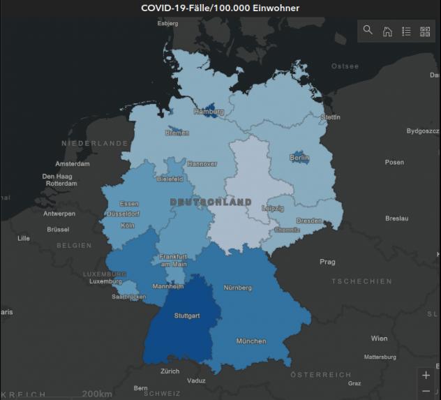 Coronakarte - Deutschland
