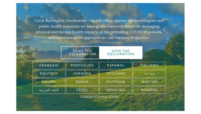 Link: Petition – Great Barrington Declaration